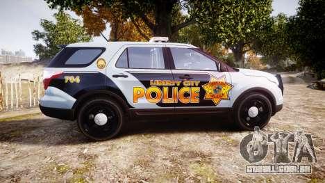 Ford Explorer Police Interceptor [ELS] marked para GTA 4 esquerda vista