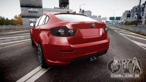 BMW X6 Tycoon EVO M 2011 Hamann para GTA 4 traseira esquerda vista