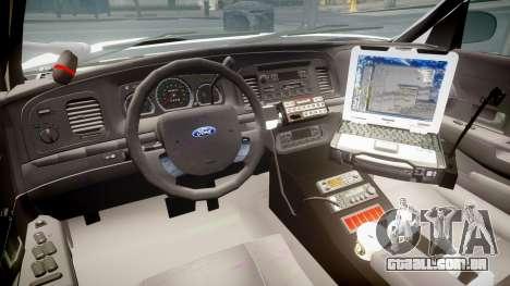 Ford Crown Victoria LCPD Unmarked [ELS] para GTA 4 vista de volta