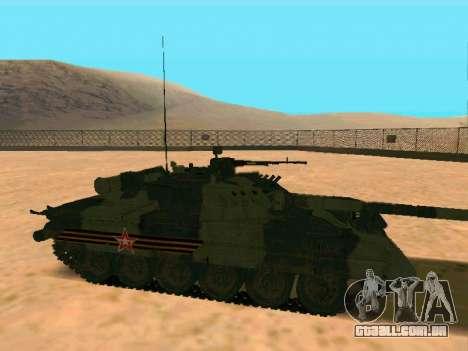 T-80U para GTA San Andreas traseira esquerda vista