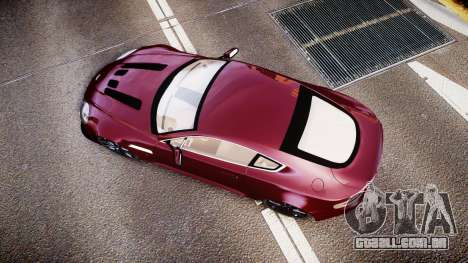 Aston Martin V12 Vantage 2010 para GTA 4 vista direita