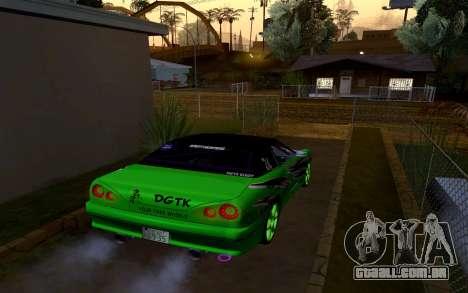 DGTK Elegy v1 para GTA San Andreas esquerda vista