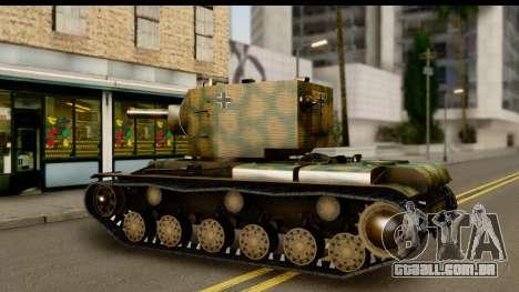 KV-2 German Captured para GTA San Andreas vista direita