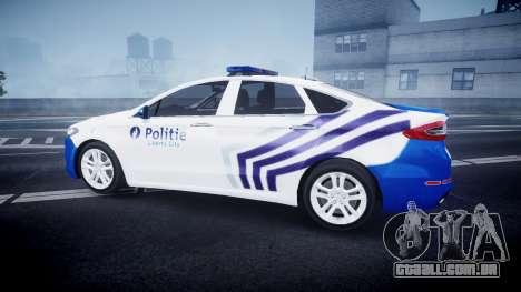 Ford Fusion 2014 Belgian Police [ELS] para GTA 4 esquerda vista