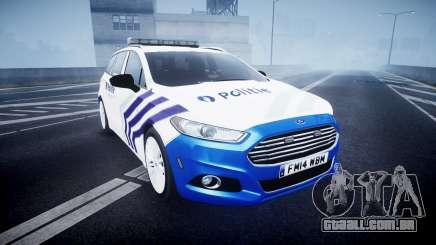Ford Fusion Estate 2014 Belgian Police [ELS] para GTA 4