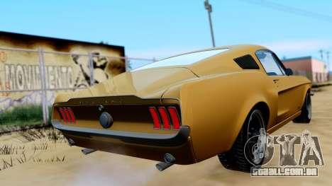Shelby Mustang GT 1967 para GTA San Andreas esquerda vista
