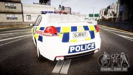 Holden VE Commodore SS Police HWP [ELS] para GTA 4 traseira esquerda vista
