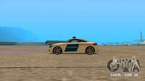 O Audi TT RS 2011 Polícia húngara para GTA San Andreas esquerda vista