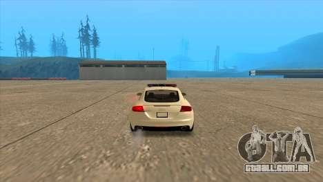O Audi TT RS 2011 Polícia húngara para GTA San Andreas traseira esquerda vista