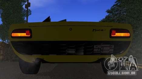 Lamborghini Miura P400 1967 para vista lateral GTA San Andreas