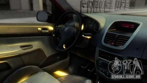 Peugeot 206 TowTruck para GTA San Andreas vista direita