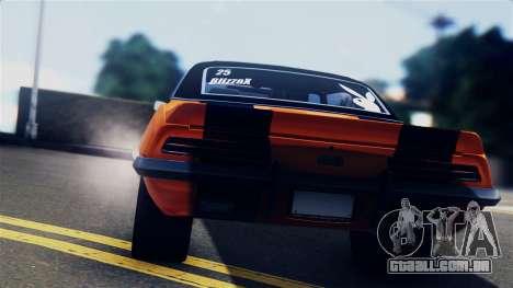 Chevrolet Camaro SS Dragster para GTA San Andreas vista traseira