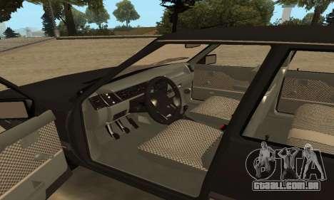 Renault 9 TSE 1992 para GTA San Andreas vista superior