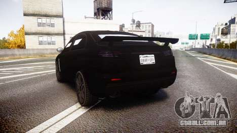 GTA V Karin Kuruma Armored satin paint para GTA 4 traseira esquerda vista