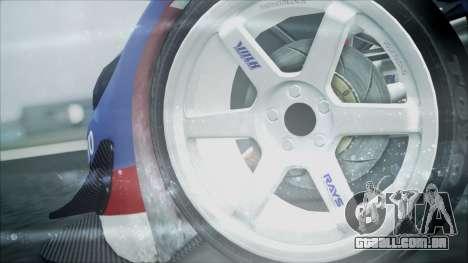 Volvo S60 Racing para GTA San Andreas traseira esquerda vista