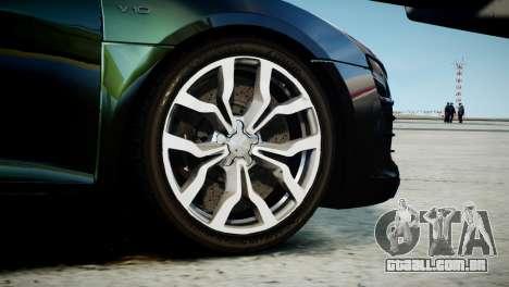Audi R8 Spyder 2014 [EPM] para GTA 4 traseira esquerda vista