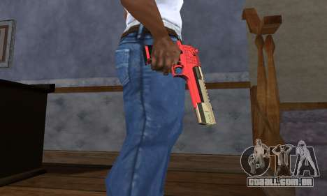 Black and Red Deagle para GTA San Andreas