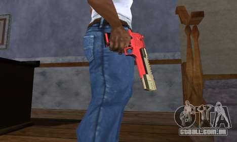 Black and Red Deagle para GTA San Andreas