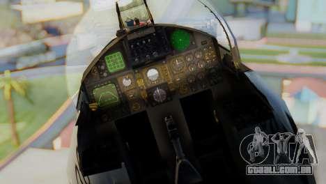 F-15C Eagle Luftwaffe JG 73 para GTA San Andreas vista traseira