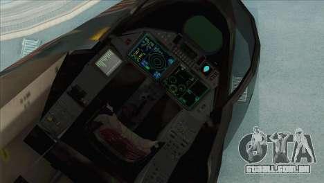 Sukhoi SU-35BM Mobius Squadron para GTA San Andreas vista traseira