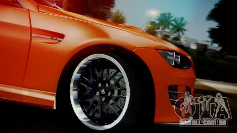 BMW M3 E92 Hamman para GTA San Andreas vista direita