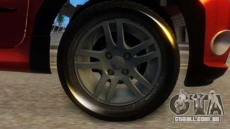 Peugeot 206 TowTruck para GTA San Andreas traseira esquerda vista