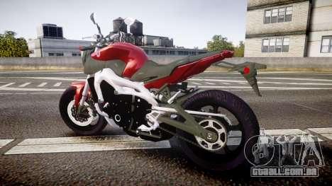 Yamaha MT-09 para GTA 4 esquerda vista
