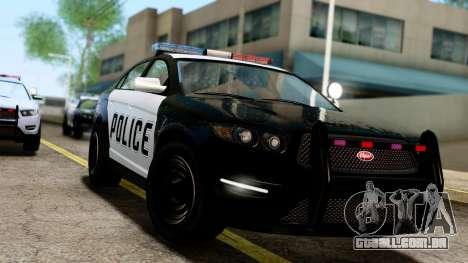 GTA 5 Vapid Police Interceptor v2 IVF para GTA San Andreas traseira esquerda vista