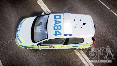 Volkswagen Golf South African Police [ELS] para GTA 4 vista direita