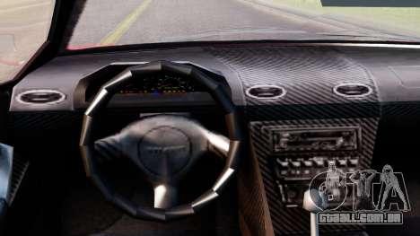 Pegassi Infernus Cento Miglia para GTA San Andreas vista direita