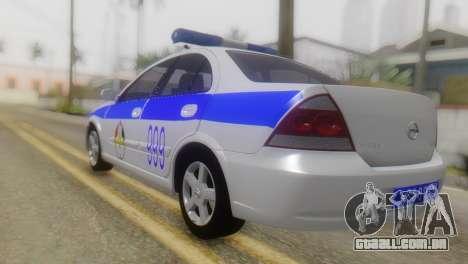 Nissan Almera Iraqi Police para GTA San Andreas esquerda vista