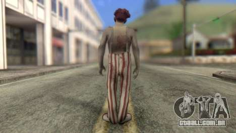 Zombie Clown from Left 4 Dead 2 para GTA San Andreas segunda tela