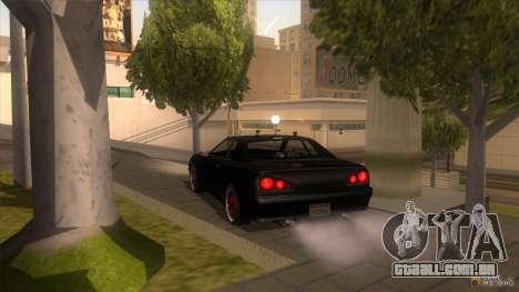 Super Elegy para GTA San Andreas traseira esquerda vista