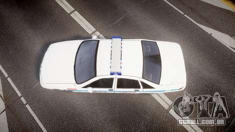 Chevrolet Caprice Liberty Police v2 [ELS] para GTA 4 vista direita