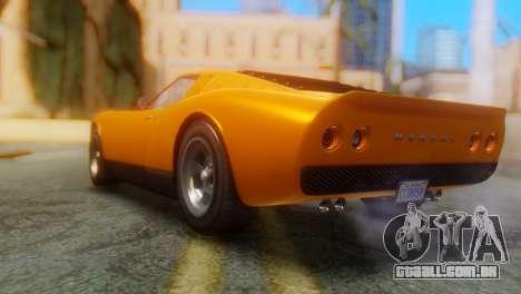 GTA 5 Pegassi Monroe para GTA San Andreas esquerda vista