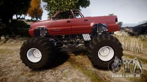 Albany Cavalcade FXT Cabrio Monster Truck para GTA 4 esquerda vista