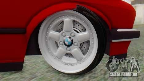 BMW M3 E30 B. O. Construção para GTA San Andreas traseira esquerda vista