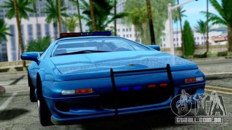 Lotus Esprit S4 V8 1998 Police Edition para GTA San Andreas vista direita