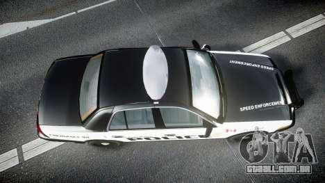 Ford Crown Victoria Alderney Police para GTA 4 vista direita