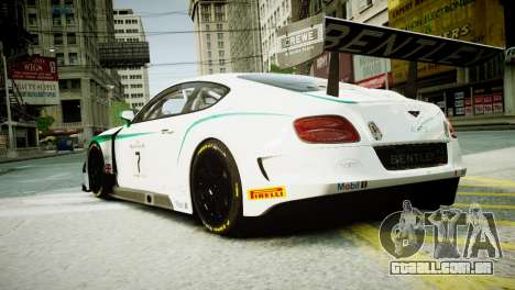 Bentley Continental GT3 2014 para GTA 4 esquerda vista