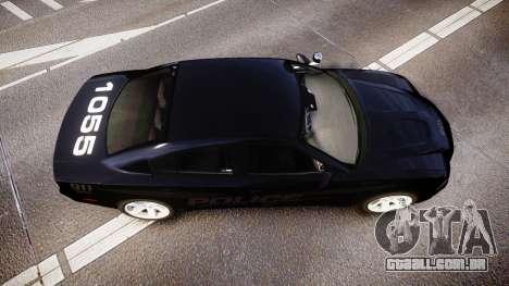 Dodge Charger LC Police Stealth [ELS] para GTA 4 vista direita