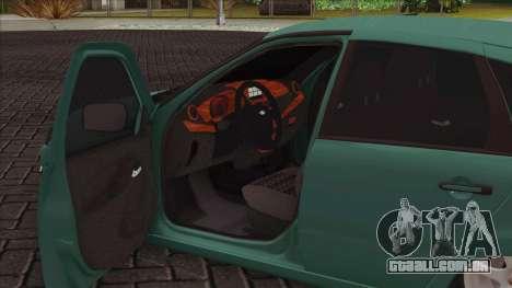 Lada 2118 Kalina 2 para GTA San Andreas vista interior