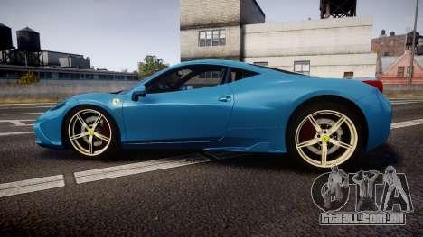 Ferrari 458 Speciale 2014 para GTA 4 esquerda vista