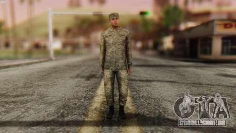 Um Membro Das Forças Armadas Da Ucrânia para GTA San Andreas segunda tela