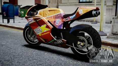 Bike Bati 2 HD Skin 1 para GTA 4 esquerda vista