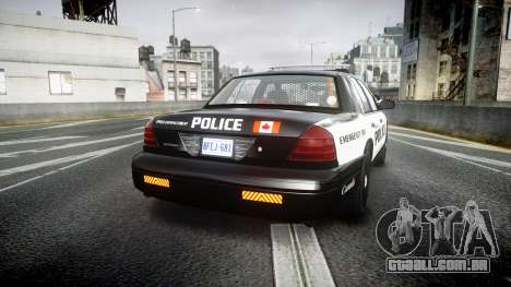 Ford Crown Victoria Alderney Police para GTA 4 traseira esquerda vista