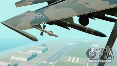 Sukhoi SU-35BM Mobius Squadron para GTA San Andreas vista direita