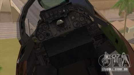 Grumman F-14A IRIAF para GTA San Andreas vista traseira