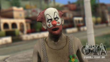 Zombie Clown from Left 4 Dead 2 para GTA San Andreas terceira tela