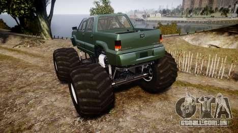 Albany Cavalcade FXT Monster Truck para GTA 4 traseira esquerda vista